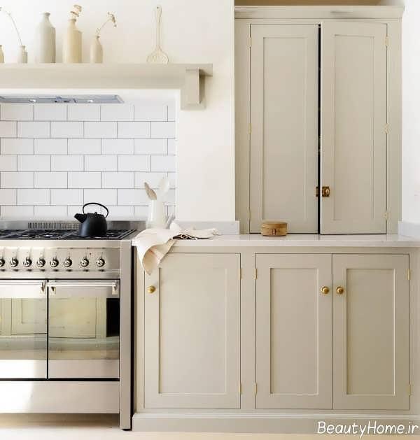 دکوراسیون آشپزخانه با رنگ استخوانی