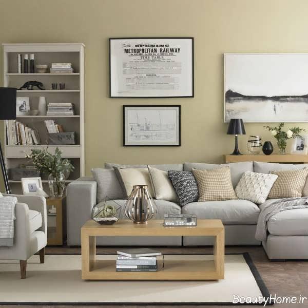 طراحی داخلی منزل با رنگ استخوانی
