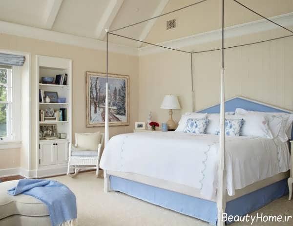 طراحی داخلی اتاق خواب با رنگ استخوانی