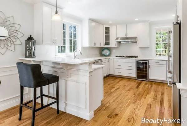 کابینت آشپزخانه مدرن برای بالای هود