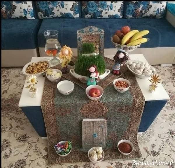 تزیین میز با هفت سین برای عید نوروز