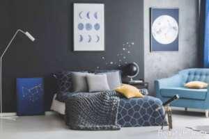 تزیین ساده دیوار اتاق خواب