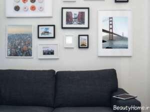 تزیین خلاقانه دیوار اتاق نشیمن