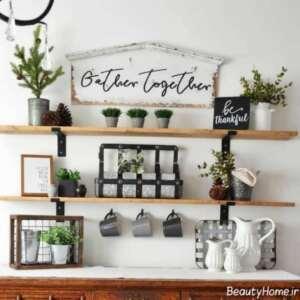 شلف دیواری برای گلدان های شیک و زیبا