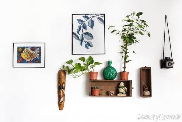 شلف دیواری زیبا مخصوص گلدان