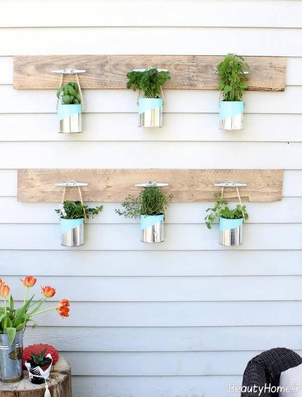 باکس دیواری برای گلدان