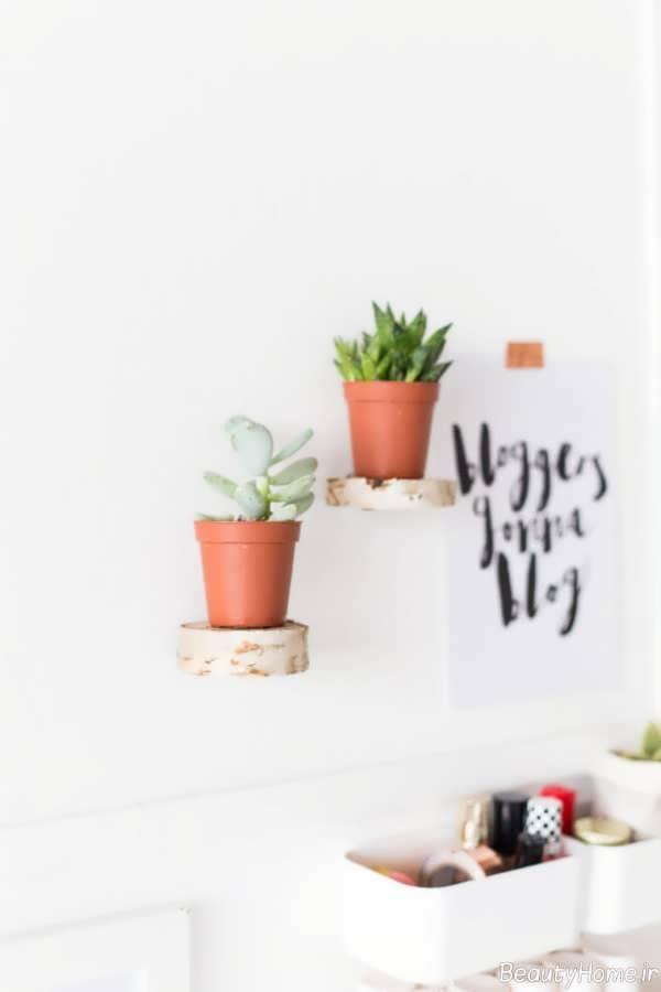 شلف دیواری مخصوص گلدان