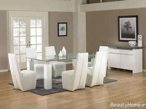 میز ناهار خوری شیک و سفید