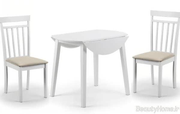 میز غذاخوری سفید دو نفره