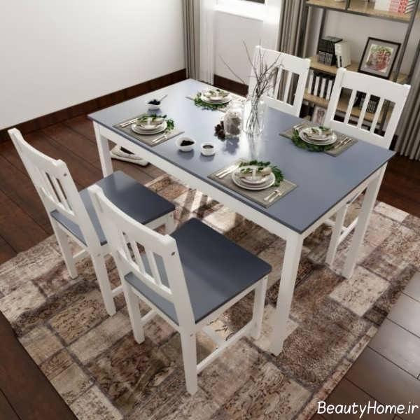 میز ناهار خوری زیبا و سفید