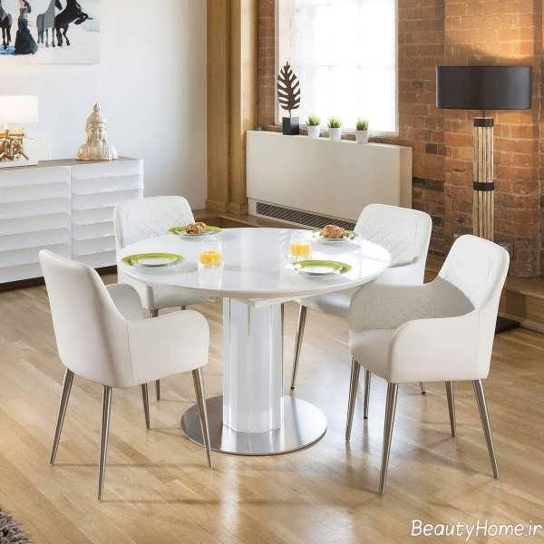 طرح میز غذاخوری سفید