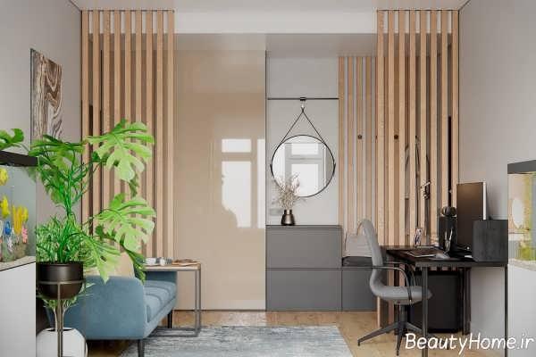 طراحی شیک خانه 55 متری