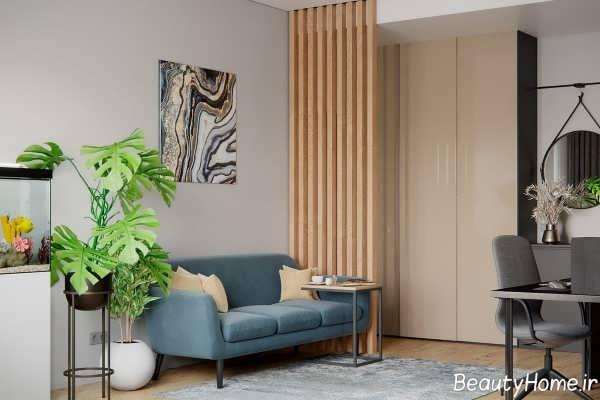 طراحی زیبا و خاص خانه آپارتمانی