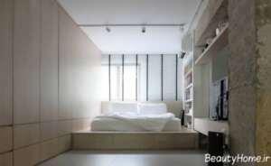 دکوراسیون داخلی اتاق خواب شیک و 9 متری