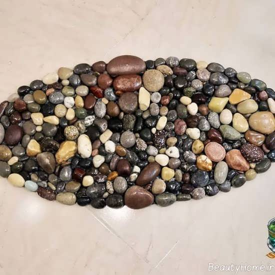 تزیین سینی با سنگ