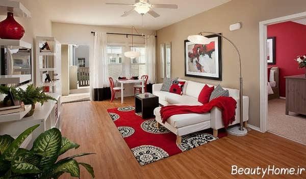 مدل های دکوراسیون با فرش قرمز