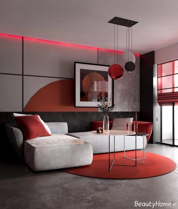 طراحی داخلی منزل با فرش مدرن
