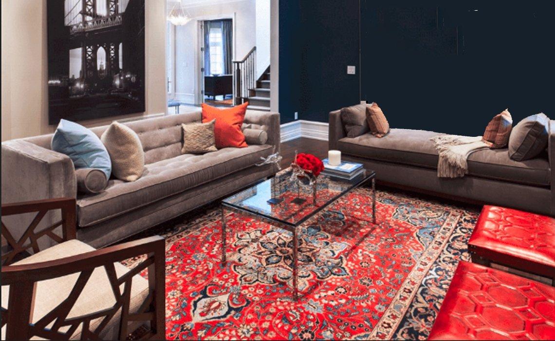 دکوراسیون با فرش قرمز