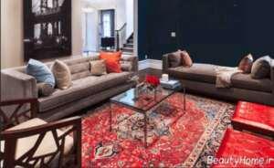 دکوراسیون داخلی منزل با فرش قرمز