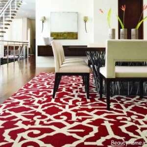 دکوراسیون داخلی و شیک با فرش قرمز