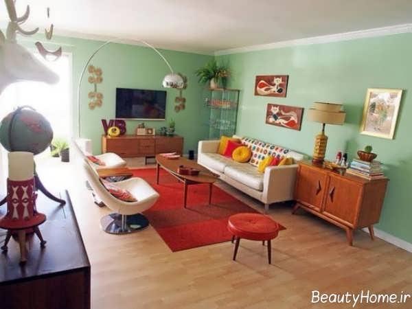 دکوراسیون داخلی با فرش قرمز
