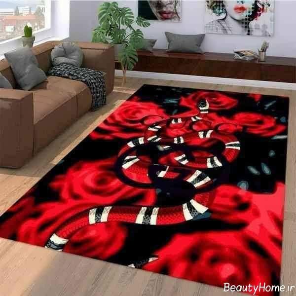 دکوراسیون منزل با فرش قرمز