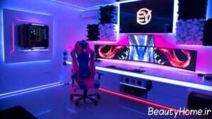 طراحی نورپردازی مخصوص اتاق بازی
