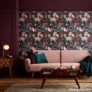 کاغذ دیواری گلدار و شیک