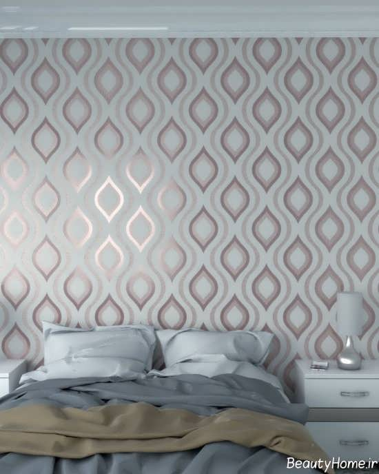 کاغذ دیواری طرح دار و زیبا برای اتاق خواب