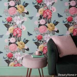 کاغذ دیواری گلدار