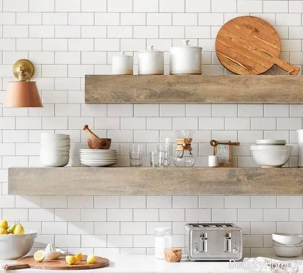 شلف دیواری زیبا برای آشپزخانه