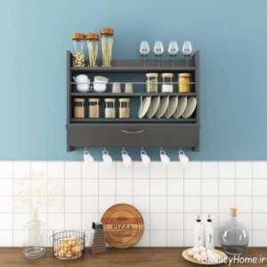 مدل شلف دیواری کاربردی برای آشپزخانه