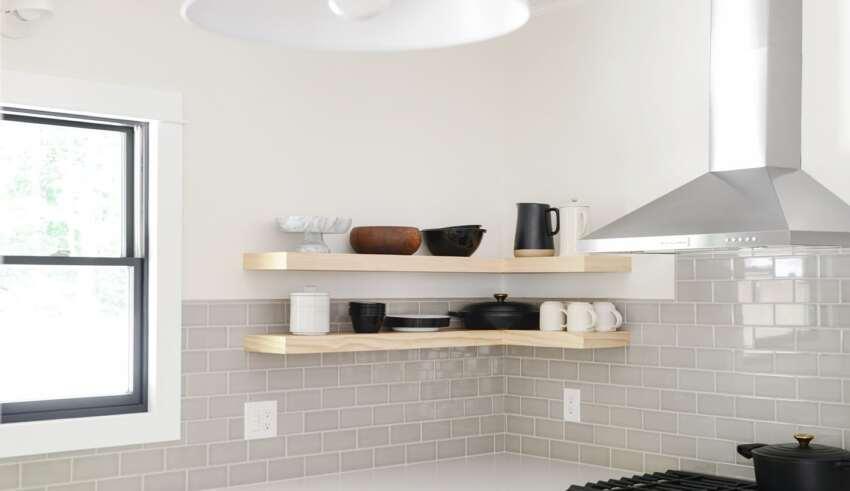 مدل شلف دیواری آشپزخانه