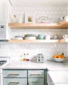 شلف دیواری ام دی اف برای آشپزخانه