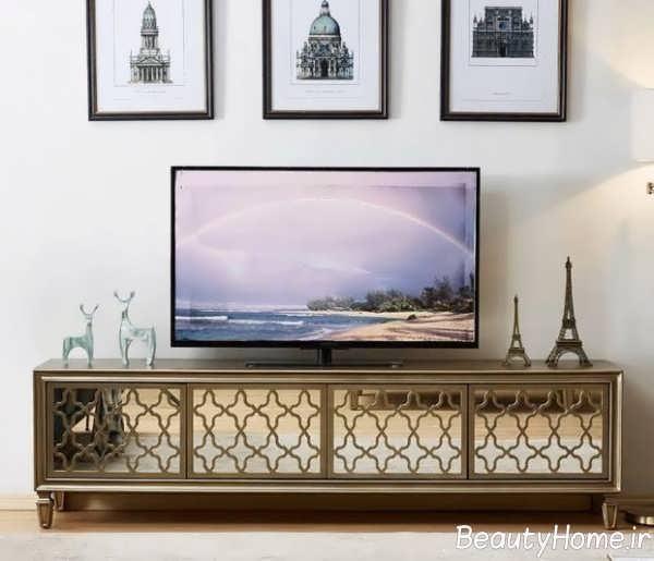 طرح میز تلویزیون آینه ای