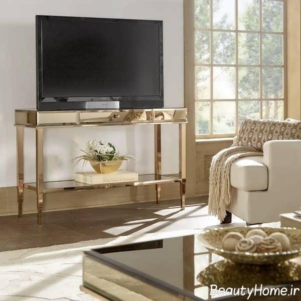 میز تلویزیون طلایی