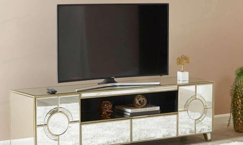 مدل میز تلویزیون آینه ای