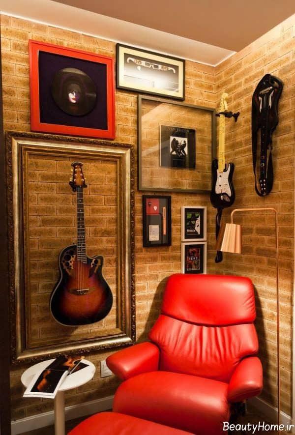 دکوراسیون اتاق موزیک