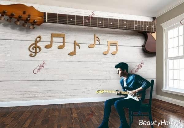 طراحی شیک اتاق موزیک