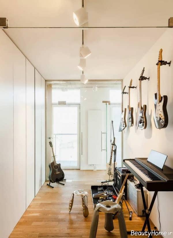 طراحی داخلی اتاق موزیک