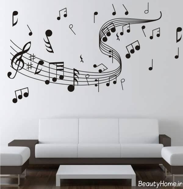طراحی دیوار اتاق موزیک