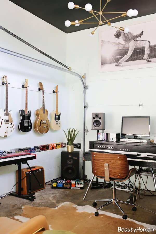 دیزاین داخلی اتاق موزیک