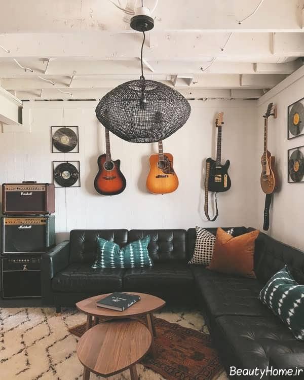 دکوراسیون زیبا اتاق موزیک
