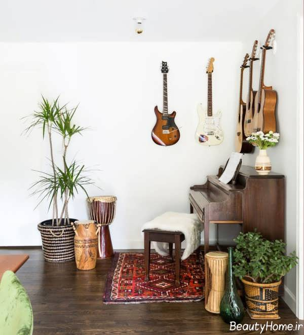 ایده هایی برای طراحی دکوراسیون اتاق موزیک