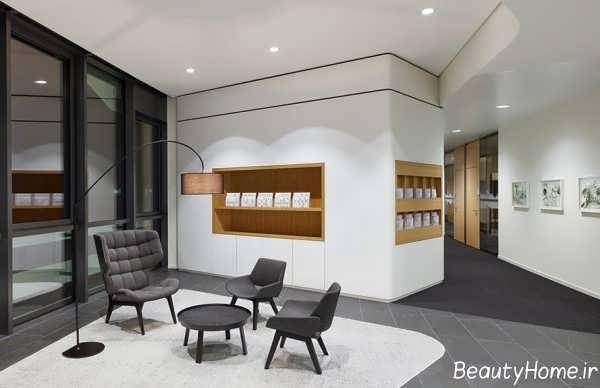 طراحی نورپردازی دفتر املاک