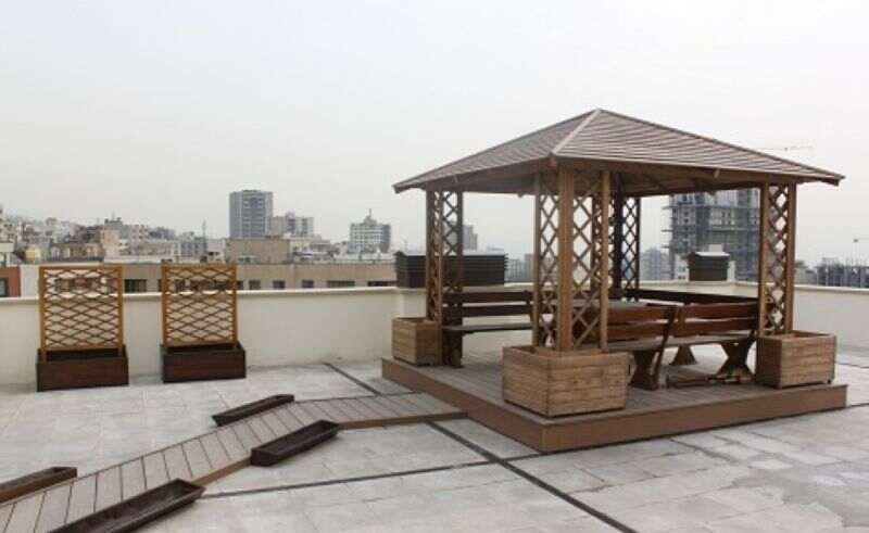 مدل آلاچیق پشت بام