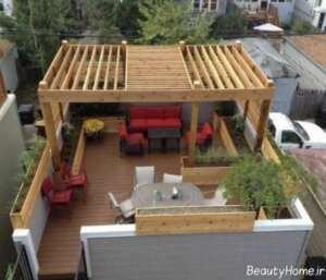 مدل آلاچیق مخصوص پشت بام