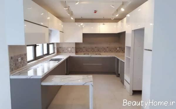 مدل کابینت آشپزخانه پلکانی