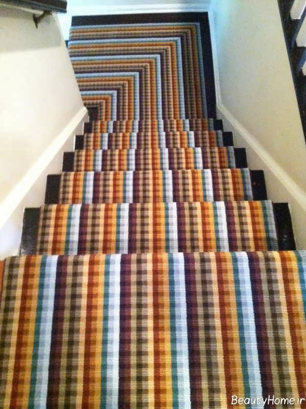 فرش رنگی برای راه پله
