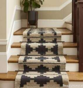 فرش طرح دار مخصوص پله ها